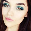 TEAL & TURQUOISE makeup