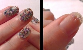 HOW TO: Remove Caviar 'Fish Egg' Manicure & Glitter Polish From Your Nails! (SO EASY!)