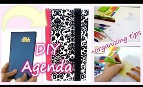 DIY customizable agenda + easy organizing tips!