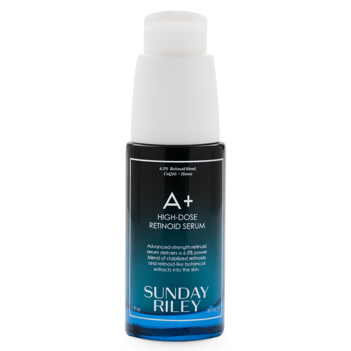 Sunday Riley A+ High Dose Retinoid Serum product smear.