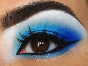 Blue Bird inspired look for brown eyes: http://www.maryammaquillage.com/2012/03/blue-birdie-chipper-chirpin.html