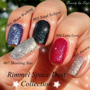 all photos here: http://www.beautybysuzi.blogspot.sk/2013/10/rimmel-space-dust-collection.html