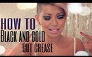 How To : Black and Gold Cut Crease