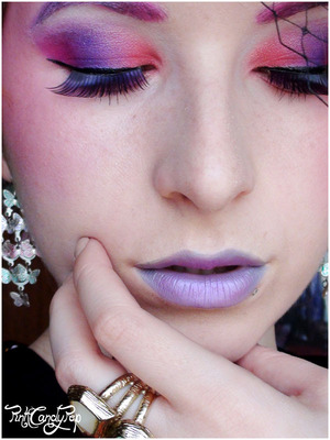 The Hunger Games - Effie Trinket inspired make up 2