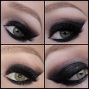 Sexy Black Smokey Eyes Collage