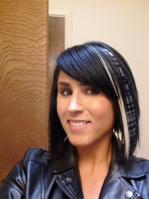 Clip in Hair extensions from hot topic are a great way to add color without ruining your hair!