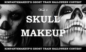 KimpantsMakeup's Ghost Train: Week 1 - Skull Makeup Tutorial
