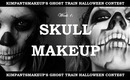 KimpantsMakeup's Ghost Train: Week 1 - Skull Makeup Tutorial