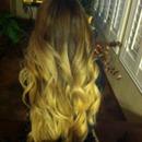 ombré curled hair