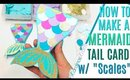 DIY Mermaid Card Tutorial, Handmade Mermaid Cards, MERMAID CARD MAKING TUTORIAL