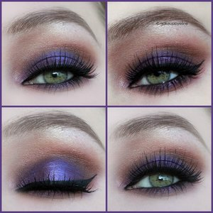 I made this look using mac grape pigment and i heart chocolate palette by make up revolution.