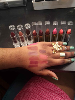 follow me on instagram for more info @glamorousleigheje about these lipsticks.. #nofilter