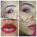 Exotic Red & Gold Makeup