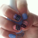Easy Spring Tribal Nails