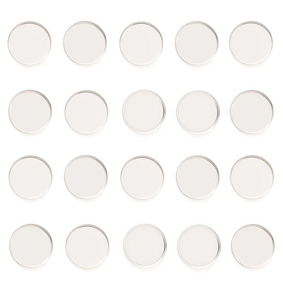 Z•Palette Empty Metal Pans 20 Pack - Round product smear.
