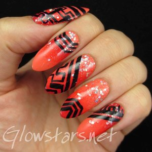 Read the blog post at http://glowstars.net/lacquer-obsession/2014/09/a-gradient-glitter-and-some-random-patterns/