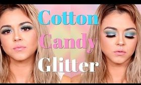 Cotton Candy Glitter makeup tutorial | Beauty by Pinky