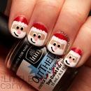 Santa Claus Nail Art!