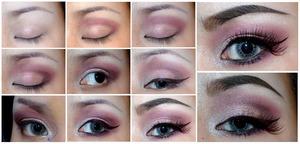 Wine stain (close up on the eyes) Using: 120 eyeshadow palette, bonjour -intense black, Chanel illusion- Fantasme, abstraction. Inglot gel liner-78, Illamasqua precision ink- Hacvoc, Eyeko - curvy mascara