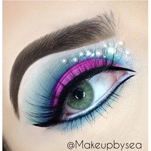 This look was inspired by a Monster High character. :) all products and details are on my IG: @Makeupbysea