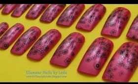 GNbL - Daisy Flower Stamping Nail Art