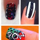 Pop art, bodice and beetle juice style nails