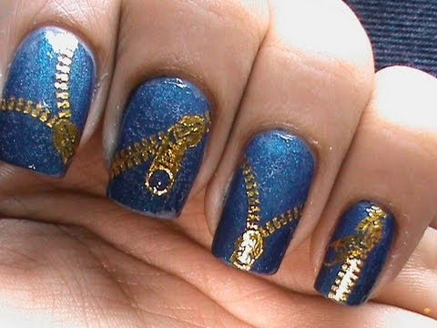 Zip Nail Art Designs Nail Polish How To Use Cute Nails Decals Tutorial Video For Beginners Diy