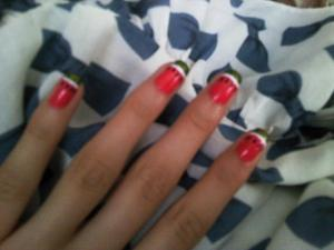 Watermelon Nails Crappy quality, my own design.