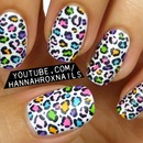 Colorful Matte Leopard Nail Art