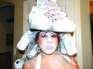 Doll-Like Marie Antoinette Halloween Make-up