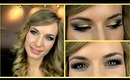 Anne V - Anne Vyalitsyna Makeup Tutorial! Gold Green Smokey Eye + Glitter. Party, Prom Makeup