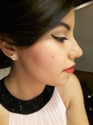 Prom night!   Givenchy Photo Perfexion Foundation Benefit Hoola bronzer Smashbox Art.Love.Color pallette  Rimmel London Kate Moss lipstick Kat von D tattoo eyeliner in trooper Lancome Hypnose Drama mascara