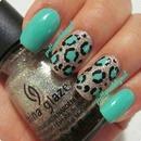 leopard color nails