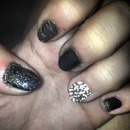 Glitter nails for homecoming