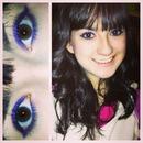 Bright eyeliner.