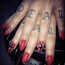 Tattoo nails cross