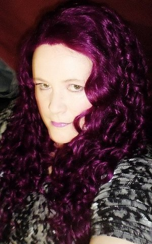 Pelo púrpura! desde Aliexpress