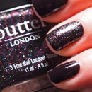 Butter London The Black Knight and Essie Luxedo