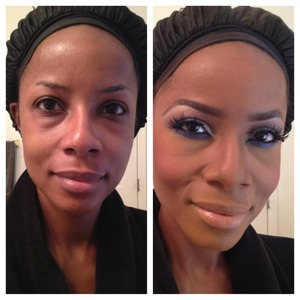 I did a lot of highlighting and contouring and magic to hide my bags and dark circles. The beauty and power of makeup.