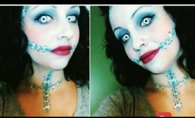 Halloween Series 2017: (Request) Easy Sally Makeup from the Nightmare before Christmas