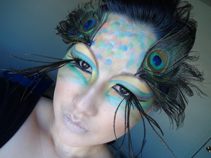 My Makeup Inspired By Peacock