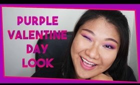 Purple Valentine Day Makeup Look ❤️ | Hooded Eyelids