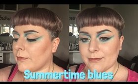 Summertime blues feat Sugarpill Cosmetics