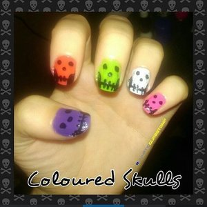 I used L.A Colors to do these simple skulls