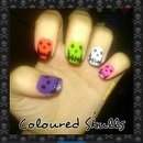 Coloured skulls