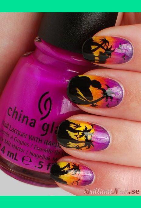 Tropical Sunset Nail Art Brilliantnail Fs Photo Beautylish