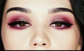 Purple and Sparkles make up tutorial
