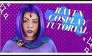 Teen Titans: Raven Cosplay Makeup and Body Paint Tutorial (NoBlandMakeup)