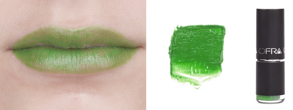Green Lipstick: Ofra Lime Green
