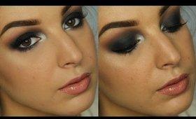 Classic Black Smokey Eye w/ Metallic Pop   New Years Full Face Makeup Tutorial ♥